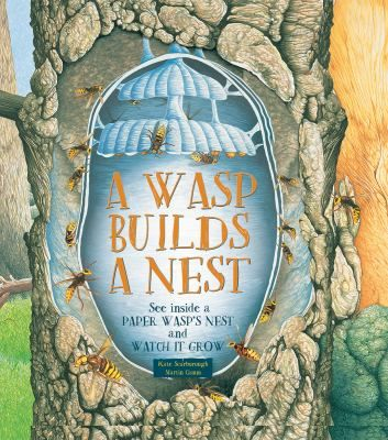 """Step-cut pages """"grow"""" as the wasps build their nest throughout the spring and summer."""