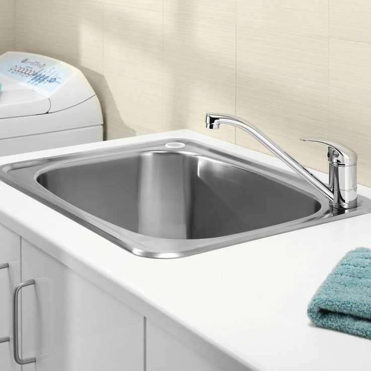 Clark 8510 inset Flushline 45L Laundry Tub
