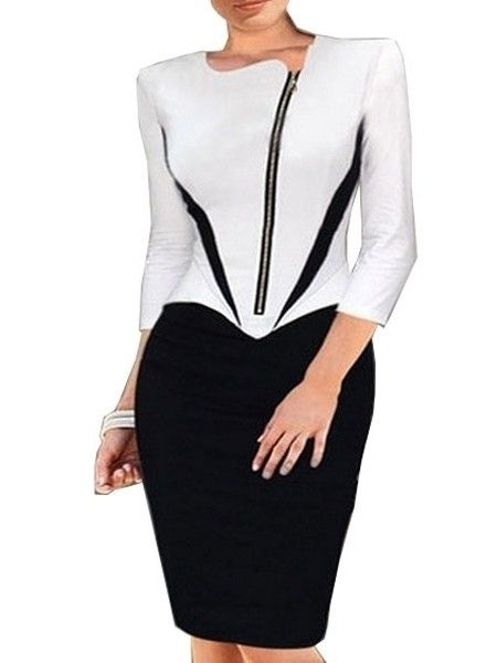 Charming Assorted Color With Zip Patchwork Bodycon-dress Bodycon Dresses from fashionmia.com