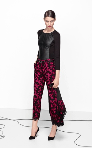 Lace collection trouser