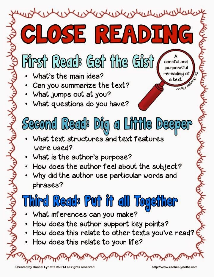 Close Reading...a fun little post and a close reading freebie!