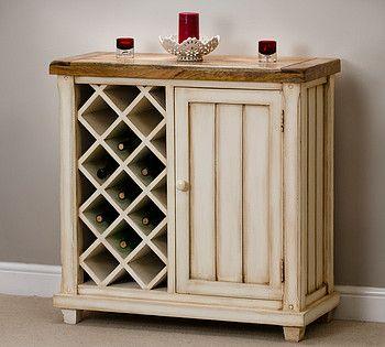 Baku Cream Painted Mango Wine Rack Cabinet — Buy Baku Cream ...
