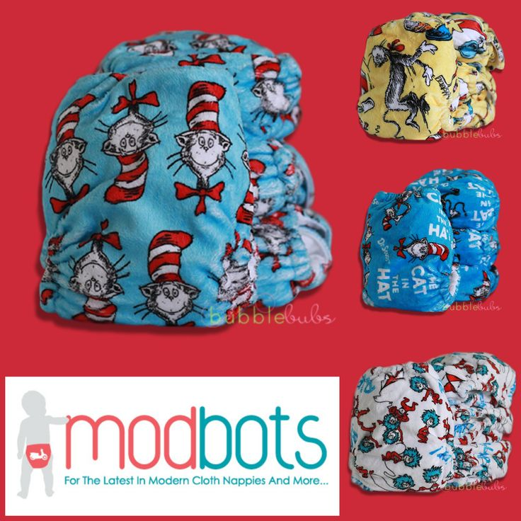 Cat in the Hat nappies by Bubblebubs