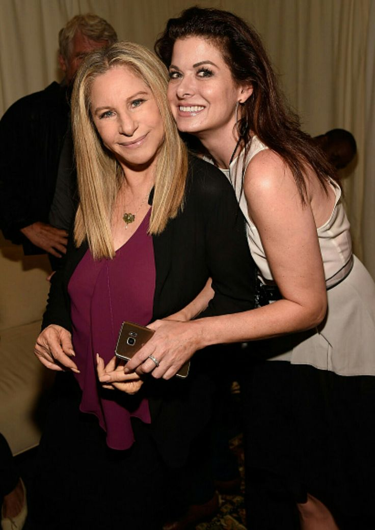 Barbra Streisand and Debra Messing backstage during Barbra - The Music... The Mem'ries... The Magic! Tour at Barclays Center of Brooklyn on August 13, 2016 in New York, New York. (Photo by Kevin Mazur)