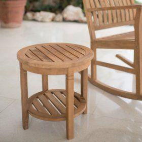 Teak Side Table Sam S Club Teak Side Table Patio Side Table Teak Patio Furniture