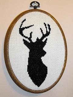 Free Deer head cross stitch pattern @duckdowndesigns blog
