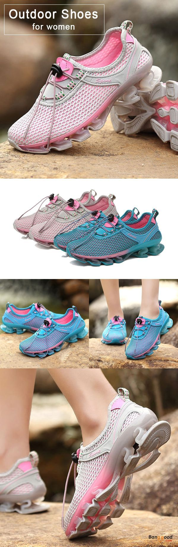 US$33.89 + Free shipping. Size: 5~9. Color: Blue, Pink. Fall in love with casual and sport style! Outdoor Running Lace Up Shock Absorption Sneakers For Women.