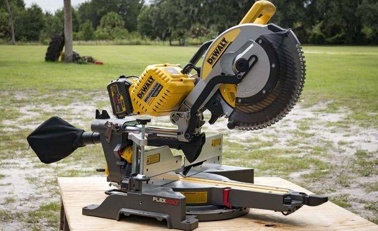 DeWalt FlexVolt 120V Max Double Bevel Sliding Compound Miter Saw Profile