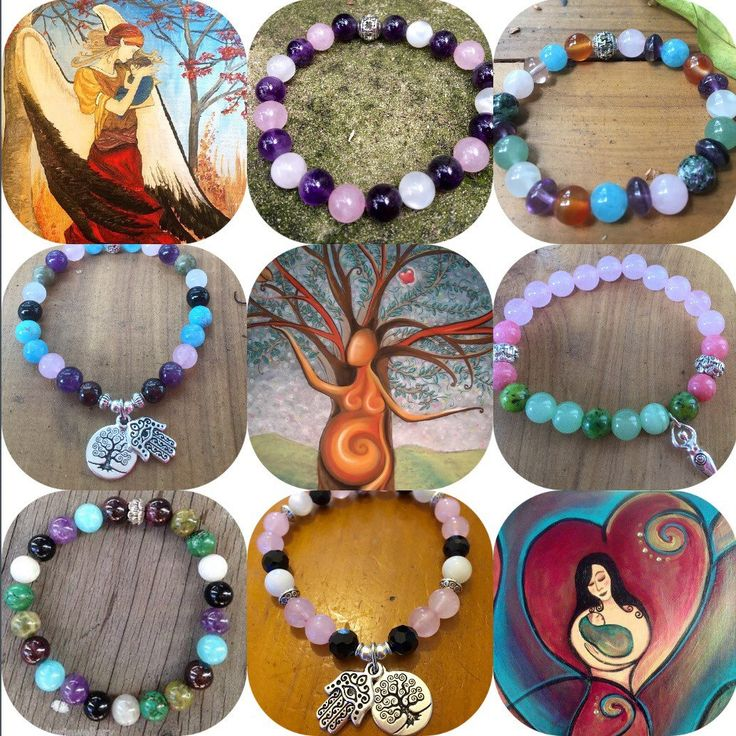 As a student of the healing energies of crystals I research & use different combinations of gemstones & crystals for fertility pregnancy & childbirth with fantastic results. I am a Reiki Master & I charge the Jewellery with Reiki for you before mailing