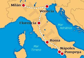 Mapa del país de Italia que contiene sus principales ciudades este país queda en Europa al igual que Grecia