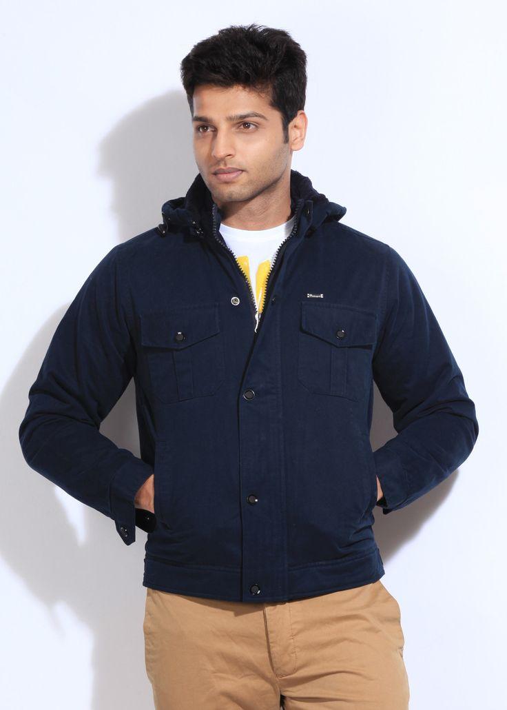 Integriti Full Sleeve Solid Men's #Jacket #Winter #Fashion