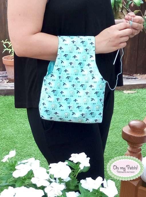 Foto-tutorial bolsa porta ovillos, con patrón incluido.  Photo-tutorial crochet ball bag, pattern included.