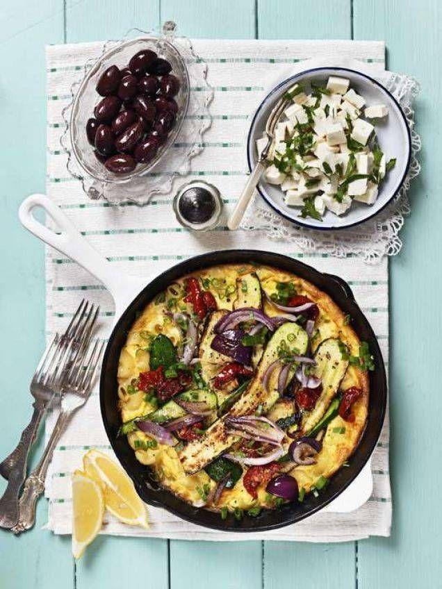Matig omelett med smak av första höstskörden