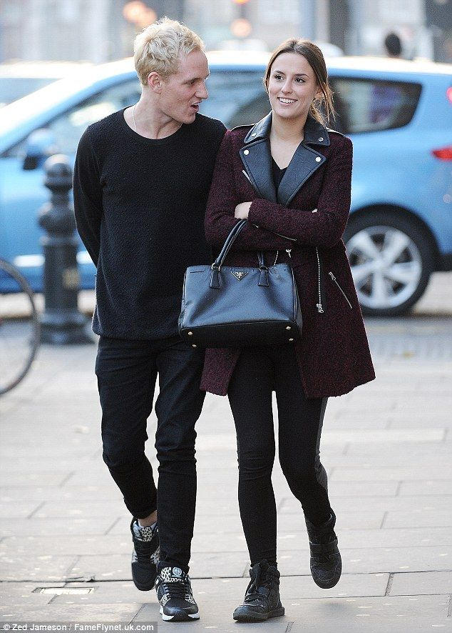 Back on track: Made In Chelsea stars Lucy Watson and Jamie Laing enjoyed a cosy lunch date on Kings Road on Thursday