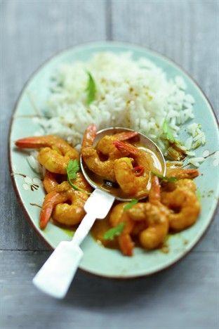 Crevettes à la thaïe - Larousse Cuisine