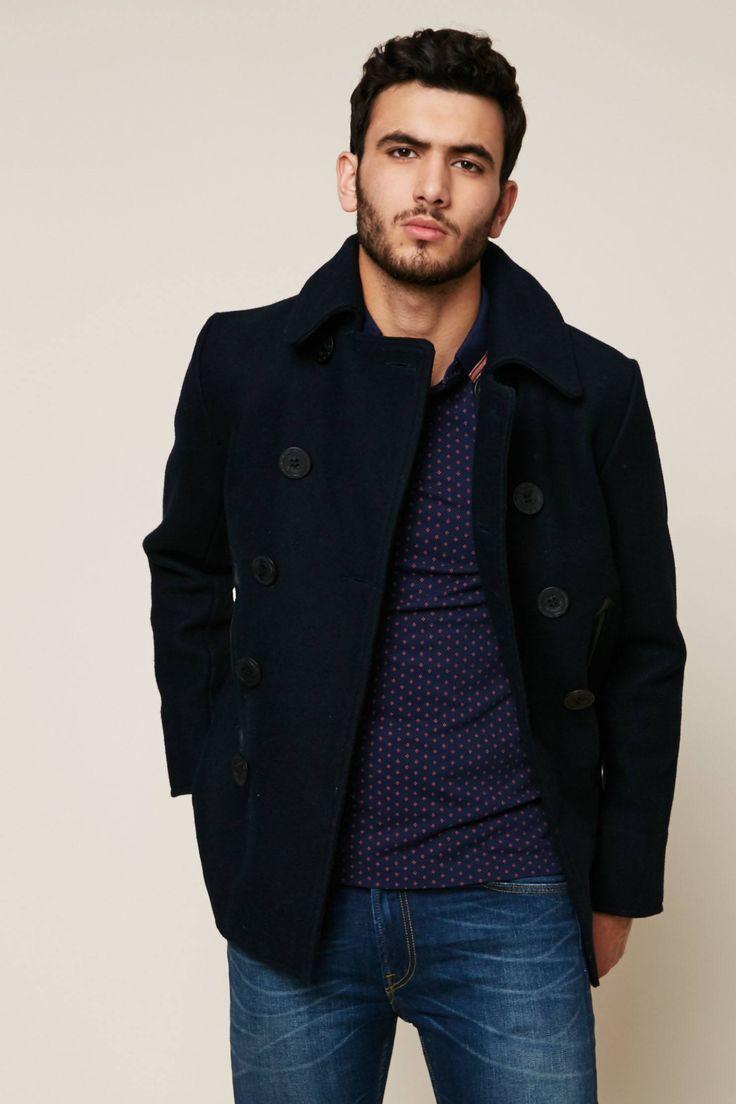 Manteau bleu marine  zoom