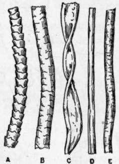 Silk Fiber mikroszkóp alatt összehasonlítása Textilszálak