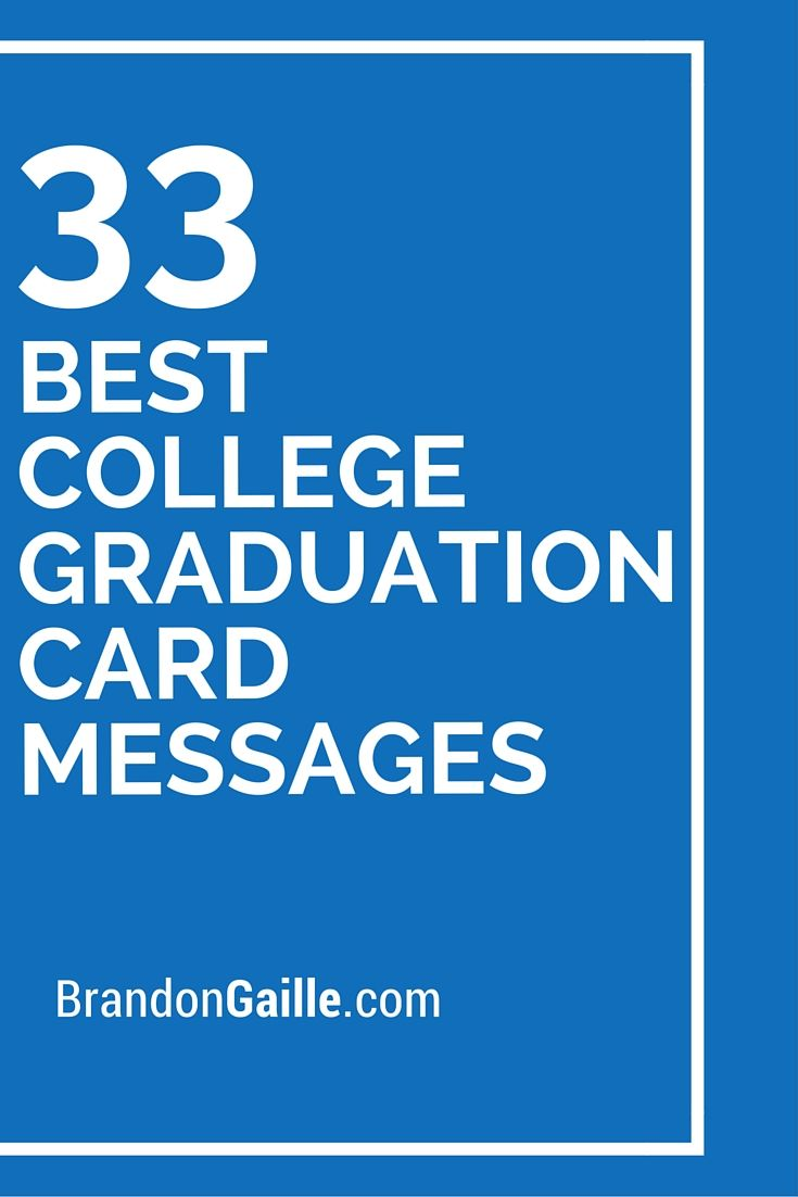 33 Best College Graduation Card Messages