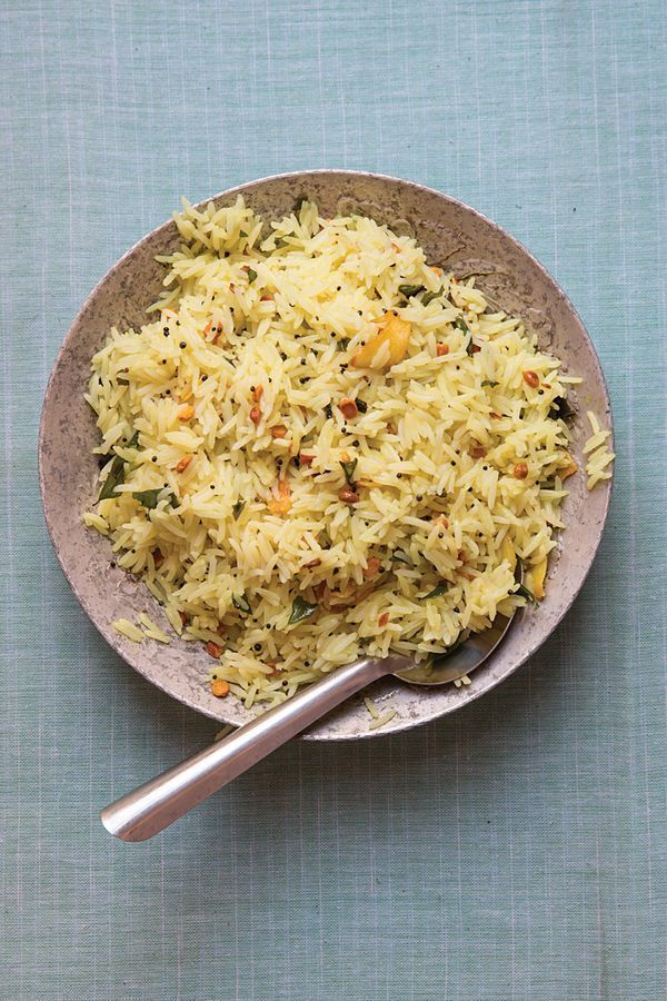 Indian Lime Rice by saveur #Rice #Lime