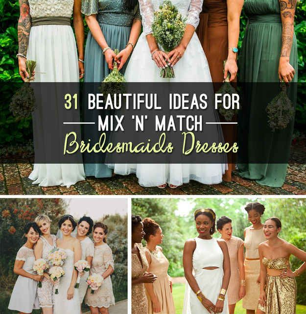 31 Real-Life Bridal Parties Who Nailed The Mix 'N' Match Look