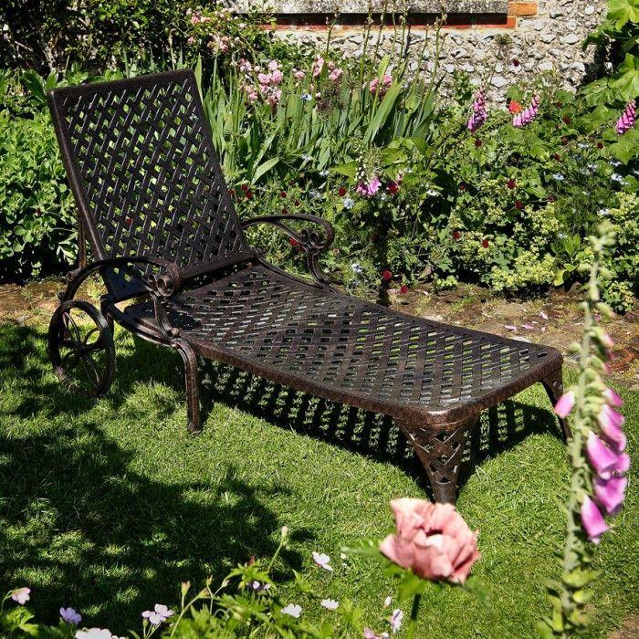 Amber Metal Garden Sunlounger Gartenmobel Aus Aluminium Sonnenliege Gartenliege Modern