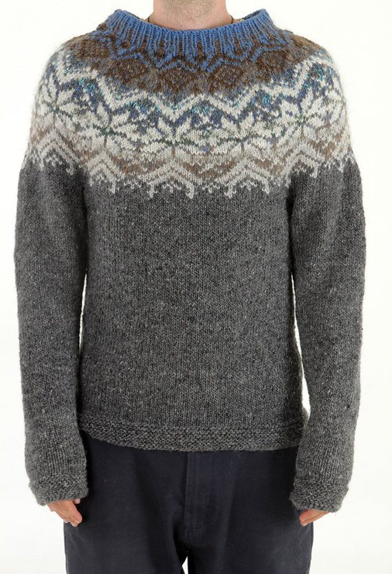100 natural Handmade Iceland sweater natural latvian by TASSSHA, $200.00