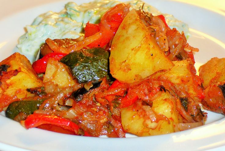 Briami, traditionelle griechische Gemüsespeise