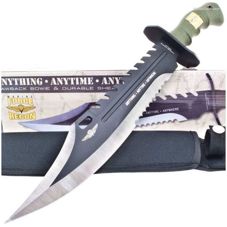 United Cutlery UC2863 Marine Force Recon Sawback Bowie Knife | MooseCreekGear.com | Outdoor Gear — Worldwide Delivery! | Pocket Knives - Fixed Blade Knives - Folding Knives - Survival Gear - Tactical Gear