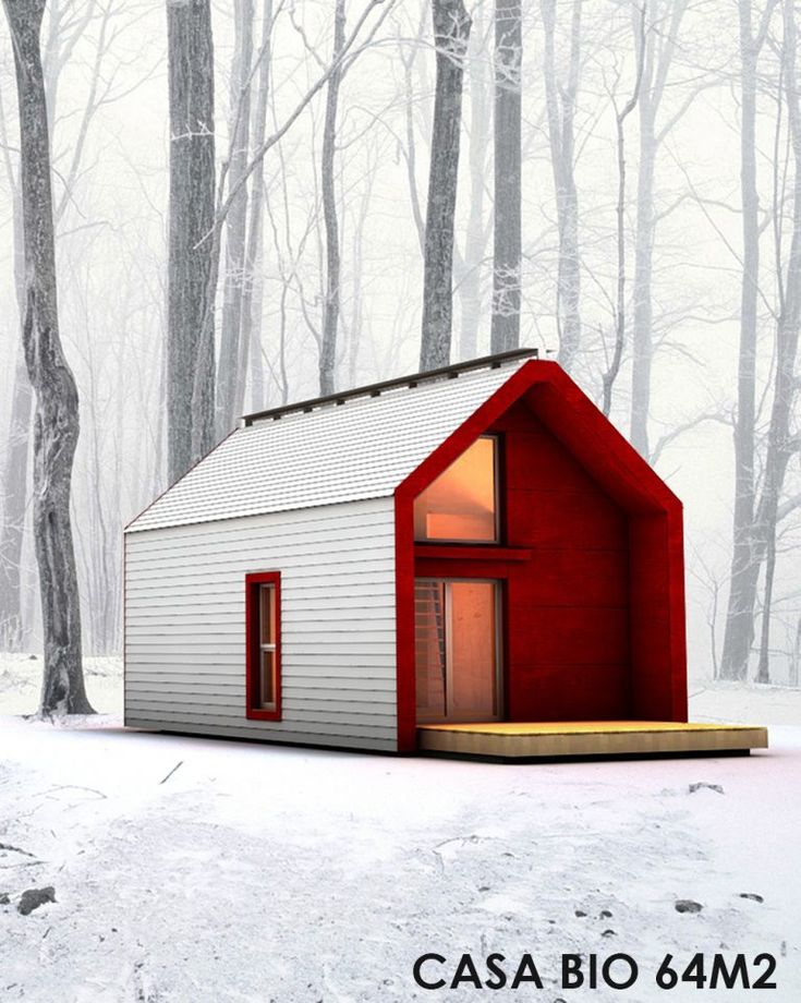 Casa bio 64 | Ideas for home | Pinterest | Cabin, Smallest house and Micro house