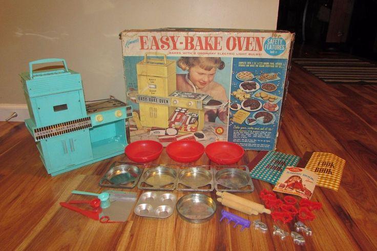 Vintage Kenner Easy Bake Oven Original Box w/Pans & Accessories Works #Kenner