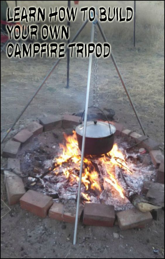 This DIY campfire tripod will only cost you just anywhere between $20 to $25 even if you buy brand new materials for it...