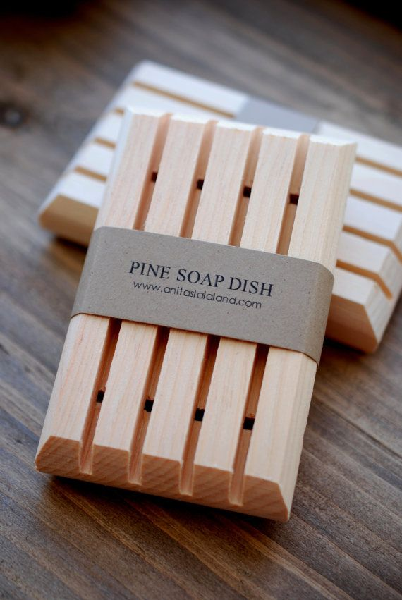 Was $8.50, Now $5.10   1 0 0 % . P I N E W O O D . S O A P D I S H  This simple wooden soap dish is made with all natural pine wood and handcrafted in Canada. It is natural color with no extra stains or preservatives. The wooden soap dish has been cut in a manner that allows water to drain completely through the dish and away from your soap. The drainage slots and naturally absorbent wood help keep your handmade soap dry between uses and last soap longer. Soap dish measures: 4 1/4 x 2 1/2 x…