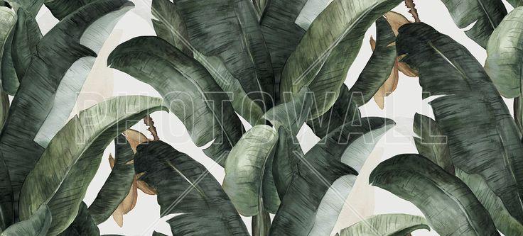 Botany Banana - Fototapeter & Tapeter - Photowall