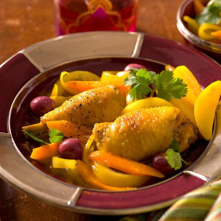 Tagine de Poulet au Citron et aux Olives