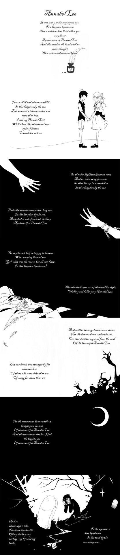 Annabel Lee by Edgar Allen Poe. My favorite piece of poetry.