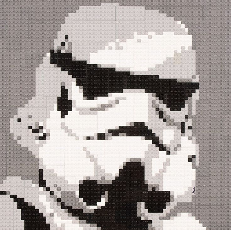 Lego Mosaic Star Wars Stormtrooper by OxfordBrickArt - Click through for more..