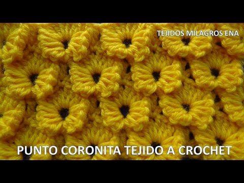 Chal o Shawl paso a paso en Punto Coronita en V tejido a crochet - YouTube