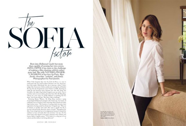 Sofia Coppola Models for Vogue Australia August 2013 by Paul Jasmin | Fashion Gone Rogue: The Latest in Editorials and Campaigns