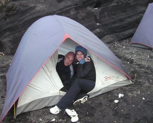 this is our tends in Rinjani Creaters