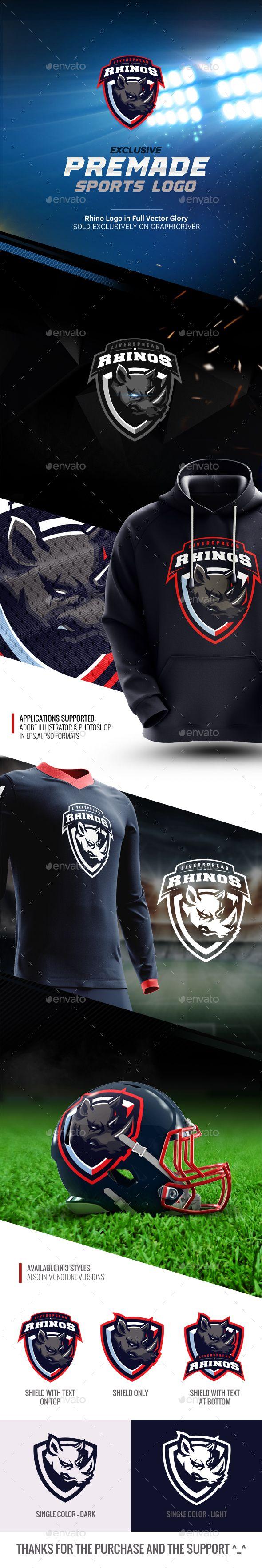 Rhinos Esports Mascot Logo - Sports Logo Templates