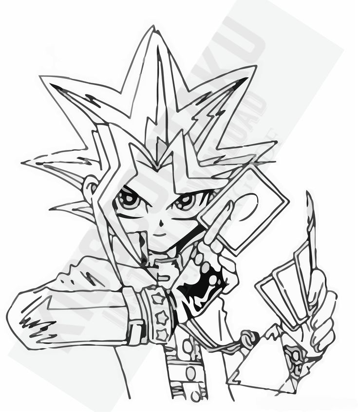 Instant download yu gi oh, Yūgi Mutō special for tracing