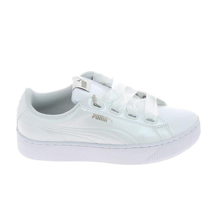 PUMA Vikky Pltf EP Blanc Vernis