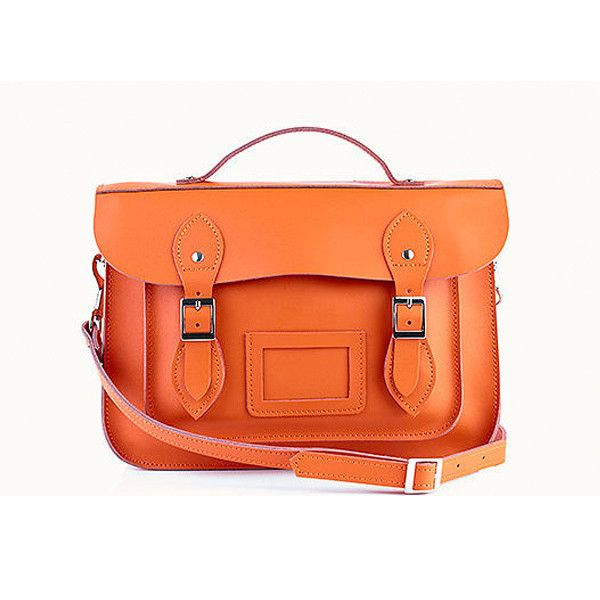 Thick as Thieves orange leather satchel from ♥Madame Fancy Pants♥ Trinkets, clothes, jewels and more, wrapped with love and sent to your door!