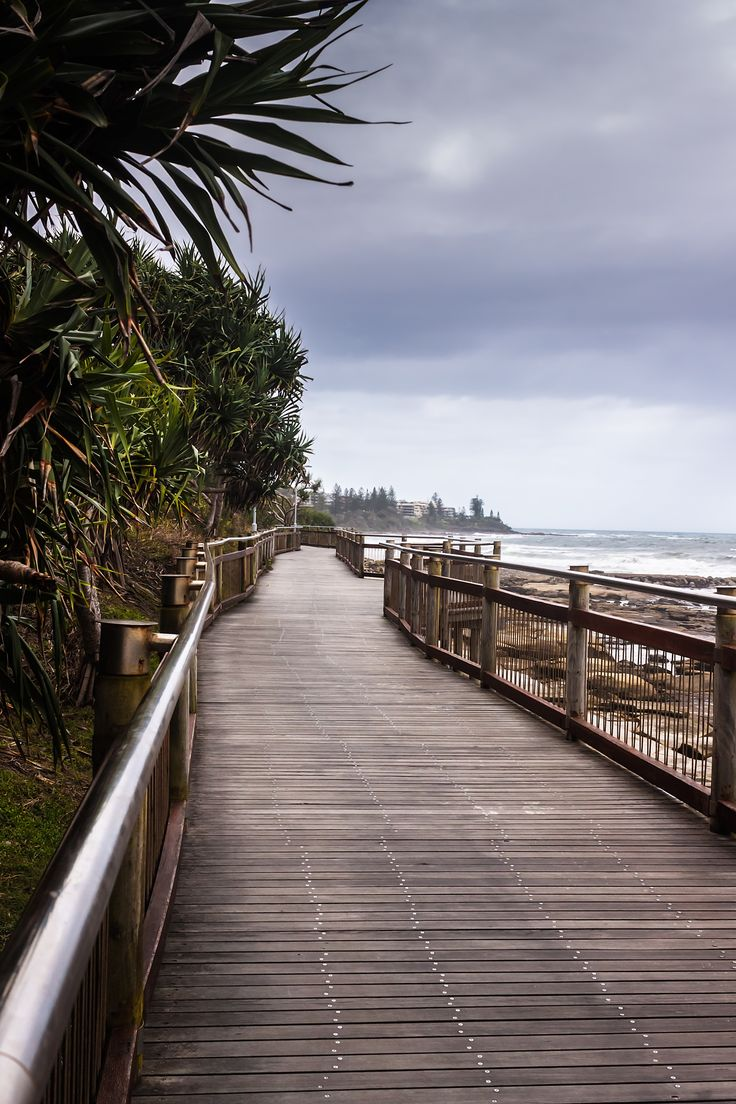 Path To The Beach - The boardwalk connects the beaches in Caloundra, the beautiful beach town in Queensland, Australia.