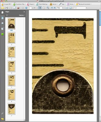 Vintage Measuring Tape Growth Chart: Free Download! | Just Something I Made