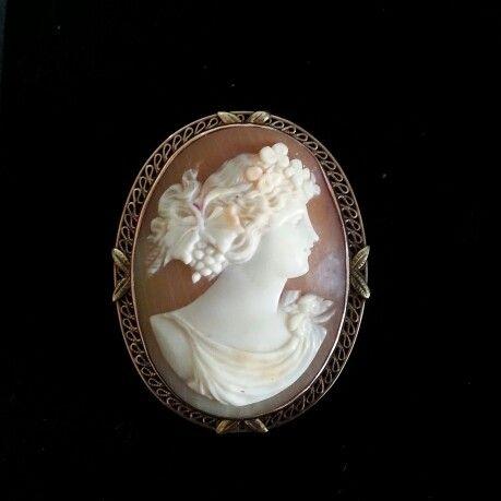Vintage cameo with 9 karat gold frame. Haunting treasure in Birmingham, UK.