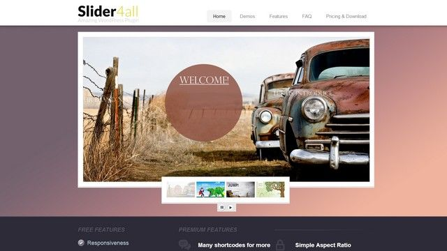 Slider4all is a great Slider WordPress Plugin from  Themes4all.