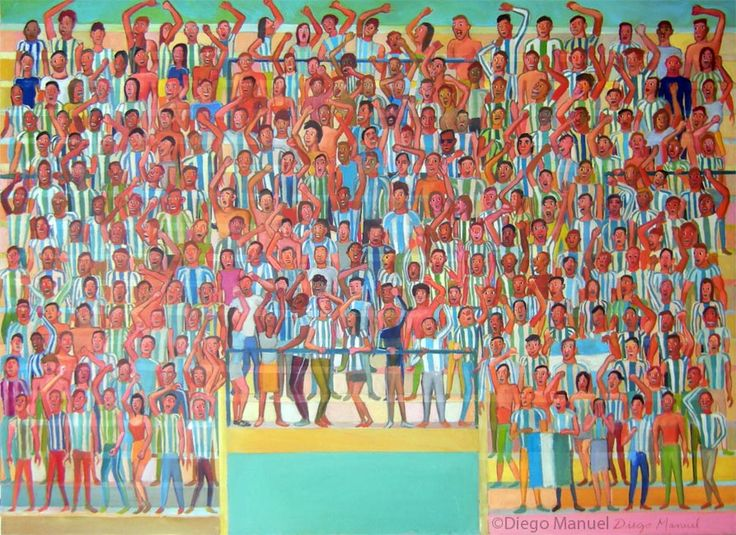 Gran Tribuna 2, acrylic on canvas, 130 x 95 cm, 2014