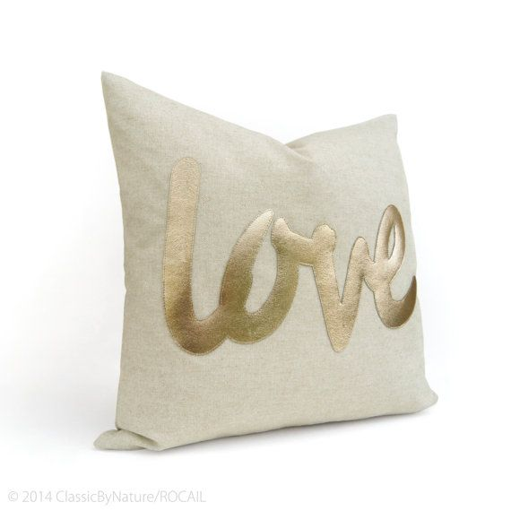 Personalized Word Pillow / Letters Symbol Text by ClassicByNature
