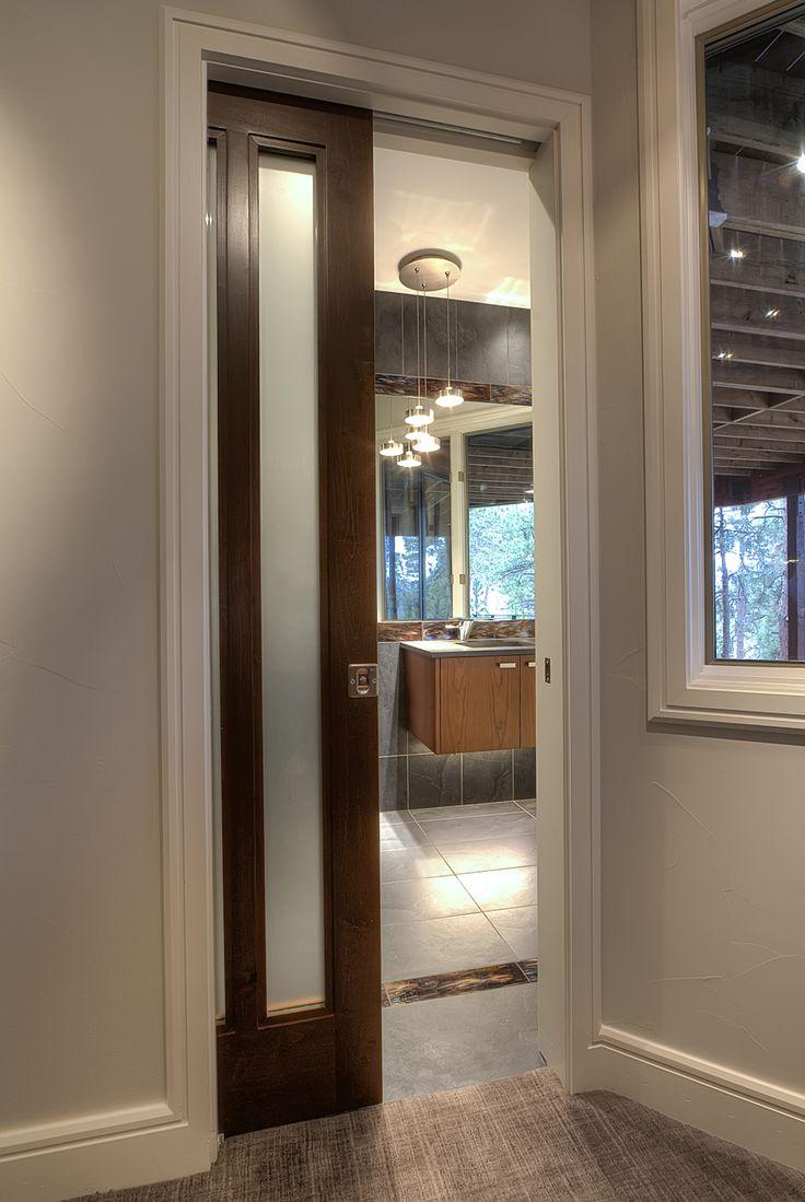 Trocal 76 entry door tiltturnwindows ca - Genesee Interior Pocket Door Square Top Rail 2 Lite Select Alder